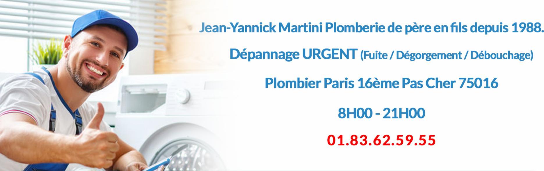 Jean-Yannick Martini Plomberie : plombier pas cher à Paris 16