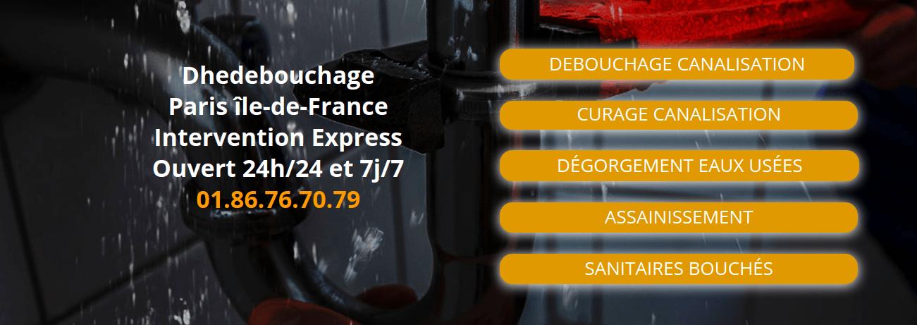 Dhedebouchageplombier : la solution aux problèmes de plomberie sur Paris