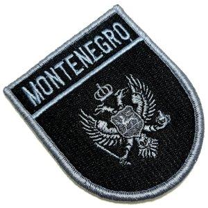 Bandeira País Montenegro Patch Bordada Fecho Contato Gancho