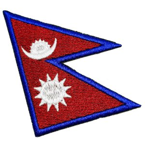 Bandeira País Nepal Patch Bordada Termo Adesivo Para Roupas