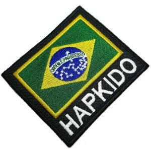 Hapkido bandeira Brasil patch bordado passar a ferro costura