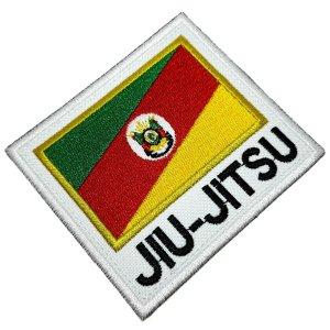 Jiu-Jitsu Rio Grande do Sul Patch Bordado Termo Adesivo