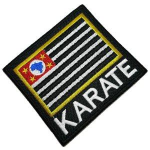 Karatê bandeira São Paulo patch bordado passar a ferro