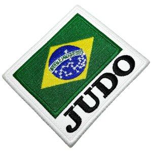 Judô Bandeira Brasil Patch Bordado Termo Adesivo Para Kimono