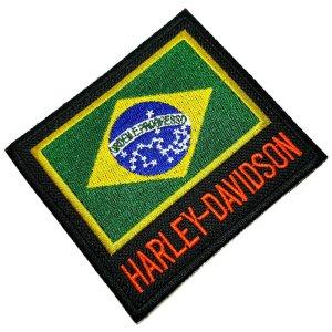 Bandeira Brasil moto patch bordado passar a ferro ou costura
