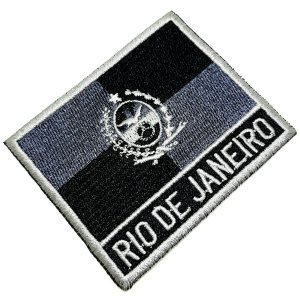 Bandeira Rio de Janeiro Patch Bordada passar ferro, costura