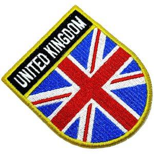 Bandeira Reino Unido Patch Bordada passar a ferro ou costura