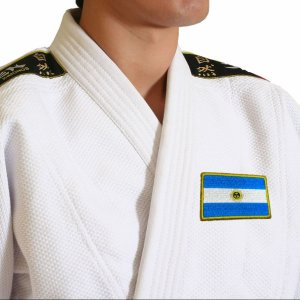 Bandeira país Argentina Patch Bordada passar a ferro costura