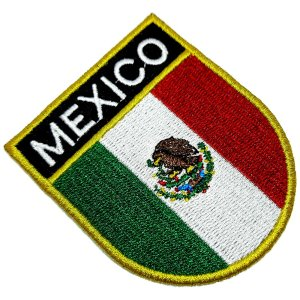 Bandeira país México Patch Bordada passar a ferro ou costura