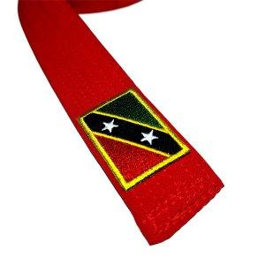 Bandeira São Cristóvão e Névis Patch Bordada, passar a ferro