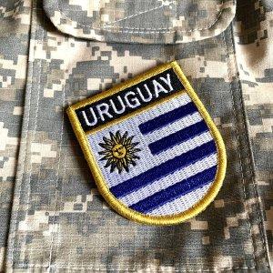 Bandeira Uruguai Patch Bordada Fecho Contato Gancho