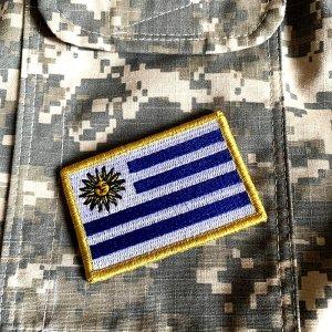 Bandeira Uruguai Patch Bordada Fecho de Contato Gancho