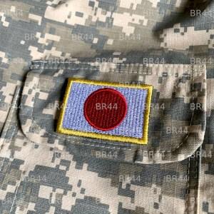 Bandeira Japão Patch Bordada Fecho de Contato Gancho