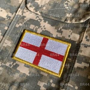 Bandeira Inglaterra Patch Bordada Fecho de Contato Gancho