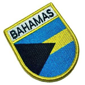 Bandeira Bahamas Patch Bordada Fecho Contato Gancho