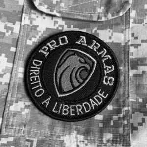 Pró Armas Brasil patch bordado Com Fecho de Contato Gancho