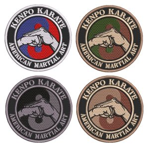AM0247 Karate Kenpo Patch Bordado Para Kimono Jaquetas Boné
