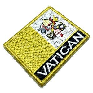Bandeira Vaticano Patch Bordada Fecho Contato Gancho