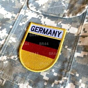 Bandeira Alemanha Patch Bordada Fecho Contato Gancho