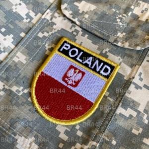 Bandeira Polônia Patch Bordada Fecho Contato Gancho