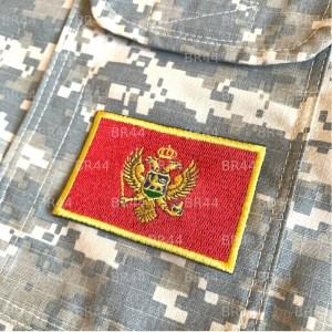 Bandeira Montenegro Patch Bordada passar a ferro ou costura