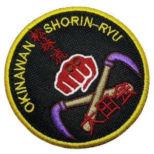 AM0250T 01 Karate Do Patch Bordado fixa com ferro ou costura