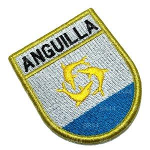BP0223EV Bandeira Anguilla Patch Bordada Fecho Contato
