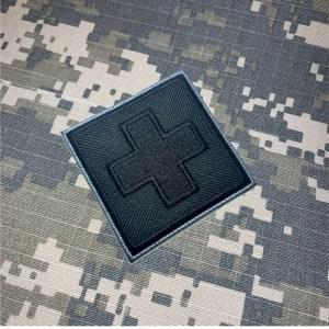 M0049T 05 Cruz Vermelha Patch Bordado Termoadesivo Costura