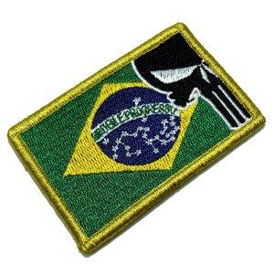M0139V 01 Brasil Patch Bordado Fecho de Contato Gancho