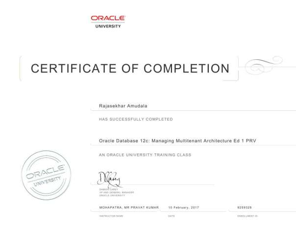 ORACLE DBA – Tips and Techniques