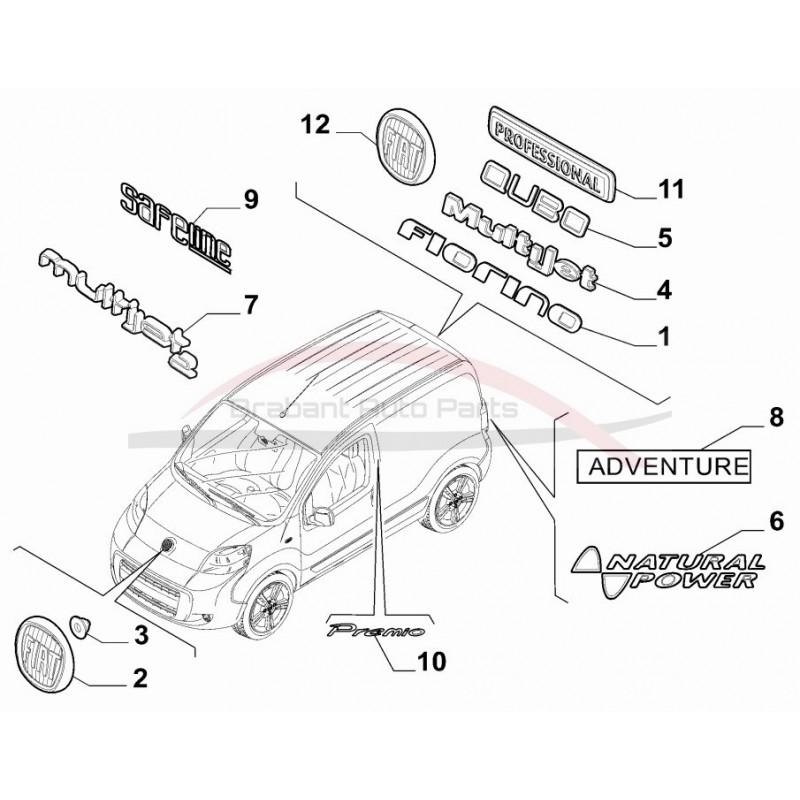 Fiat Fiorino / Qubo embleem professional