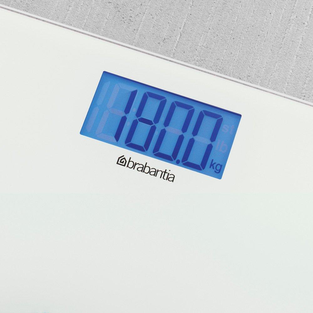 Bathroom Scales Battery Powered  White  Brabantia