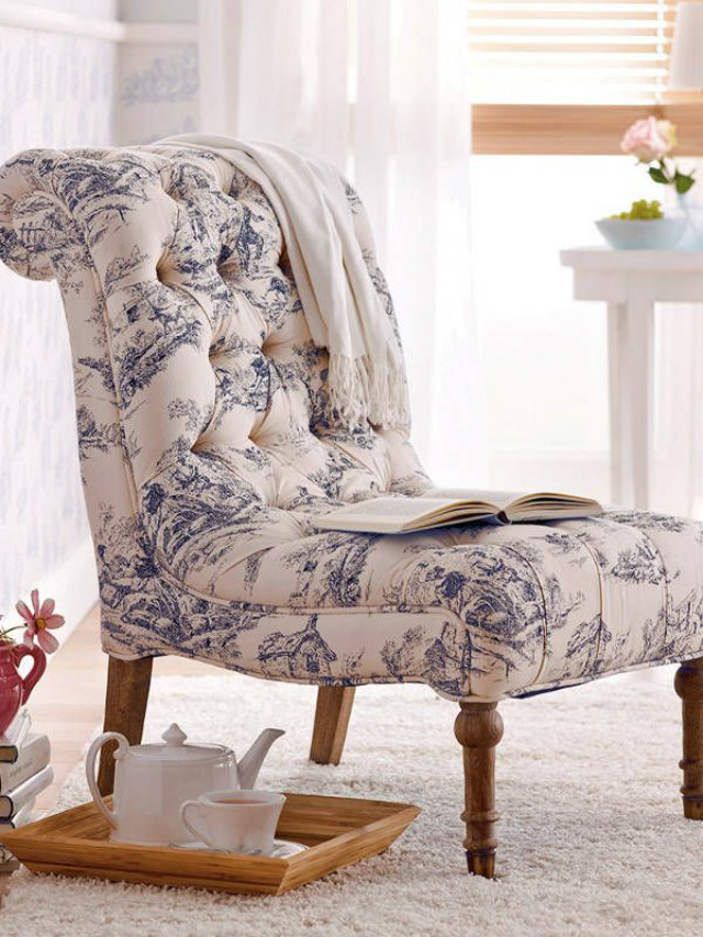 Blue Slipper Chair
