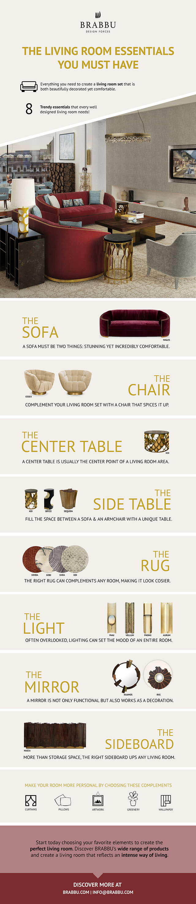 Living Room Essentials Your Must Have Guide for This Summer Remodel  News  Events by BRABBU