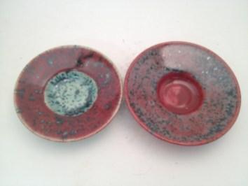 Phoenix red and Pistachio (left is Pistachio over Phoenix, right is reverse)