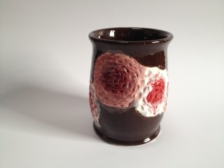 Fudge Brown with Pig Pink/Raspberry and Brick Red/White flowers