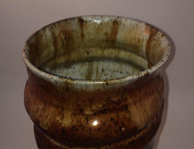 detail of top: Outside - oatmeal over albany slip, inside reverse