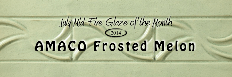 Frosted Melon, Mid-Fire Glaze of the Month
