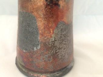 wax resist squares, Spectrum Mars & Bracker's Crackle White, reduced in Sawdust