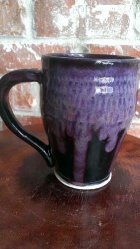 Celia Waters - Amaco obsidian with PC Smokey Merlot on porcelain.