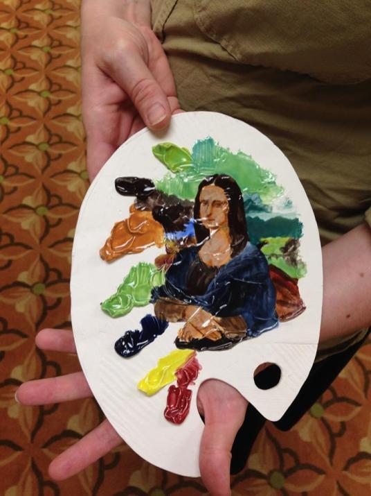 Cara Moczygemba painted Mona Lisa using the TP glazes!