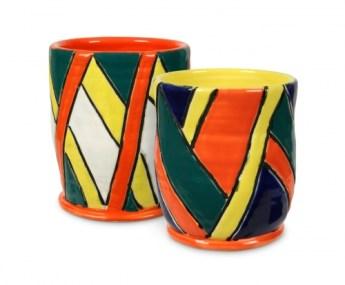 Teacher's Palette Glazes on thrown cups