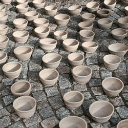 small unfired bowls - made & photographed by Heyjoo Yang