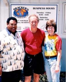 With Kansas City Potter Joe Smith and Jim Connell when Jim presented a workshop 2003