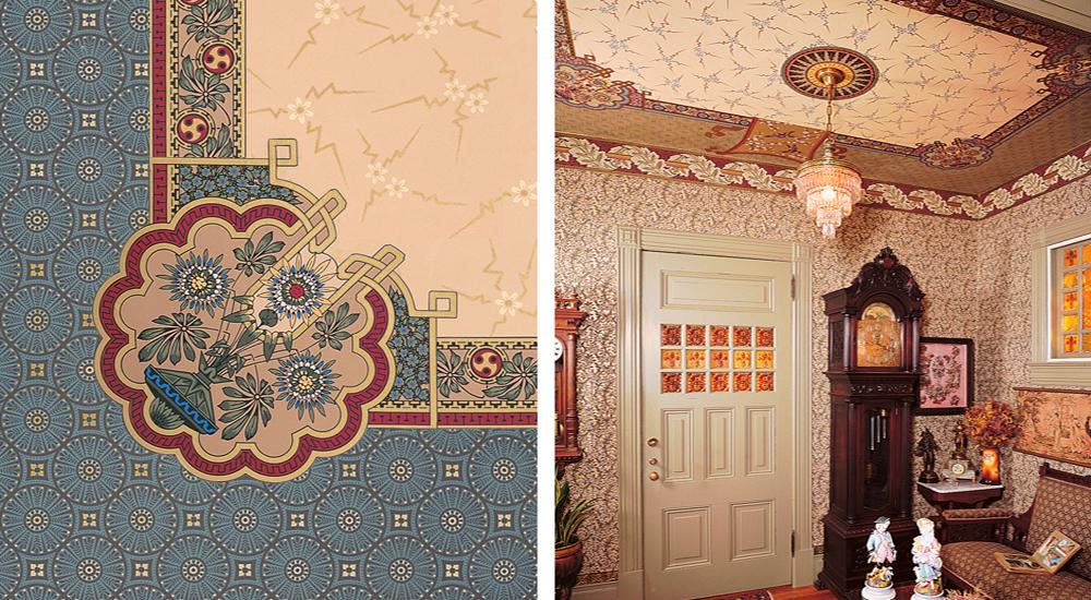 Cherry Blossoms Falling Stylized Wallpaper Bradbury Victorian Home Art Wallpapers Aesthetic