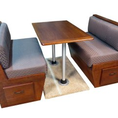Kitchen Table And Chairs Set With Booth Restaurant Wooden Rv Marine Dinette