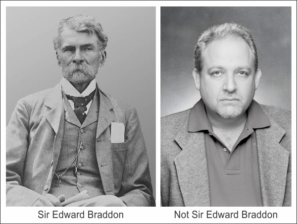 Side by side photos of the Braddons