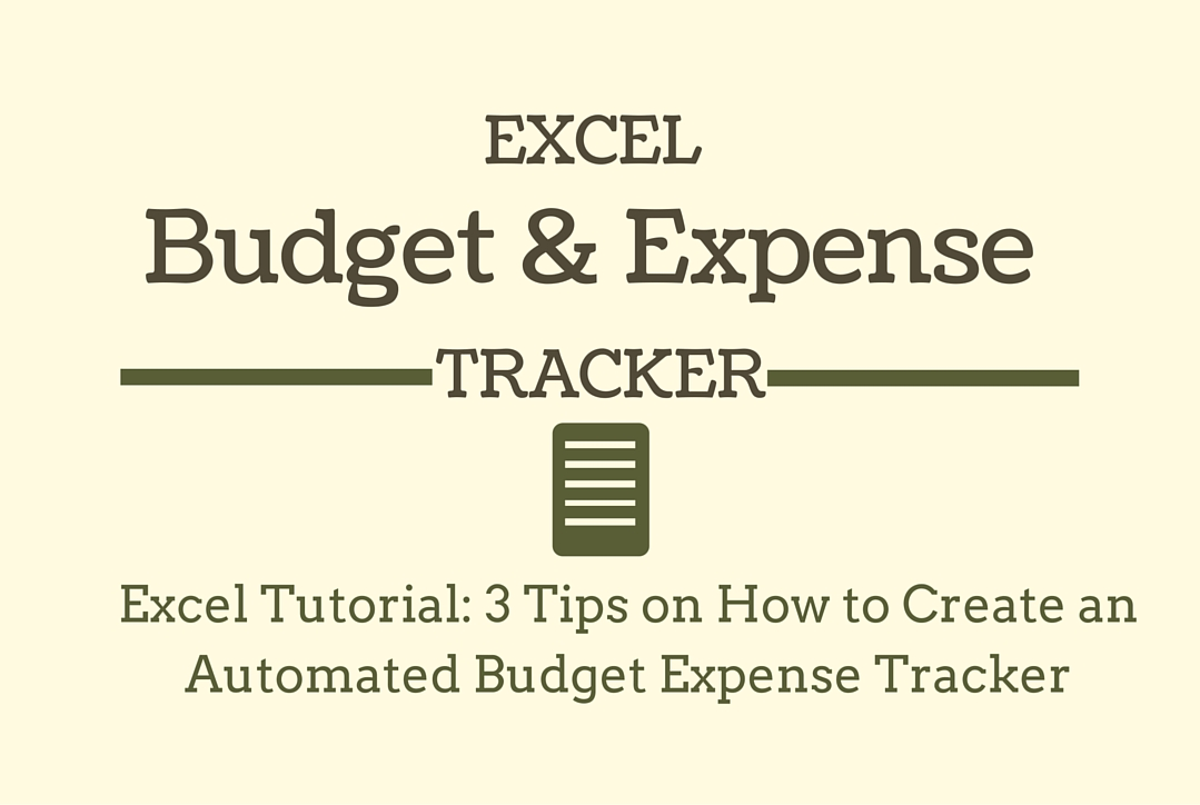 excel tutorial 3 tips on how to create an automated budget