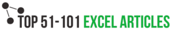 TOP 50-101 Excel Articles