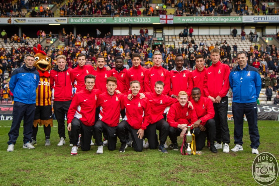 Bradford City Under 18's, League Winners.